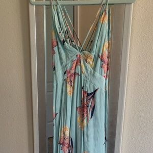 Sea Foam Floral Maxi dress